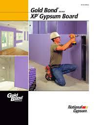 Xp Gypsum Board National Gypsum Pdf Catalogues Documentation