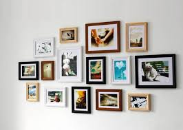 contemporary wall collage picture frames