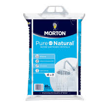 Home Water Conditioner Morton Salt 40 Lb Pure And Natural Water Softener Salt 3983 The