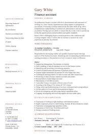 Finance Assistant CV ...