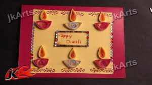 Ideas For Making Diwali Charts Diy Paper Quilling Greeting Card For Diwali Jk Arts 335