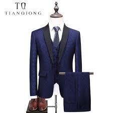 Coat Suit Design Tian Qiong Brand Latest Coat Pant Designs Shawl Collar 3 Pieces Mens Royal Blue Suit Wedding Suits For Men Groom Prom Tuxedos