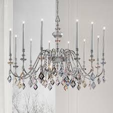 elegant modern italian silver leaf chandelier