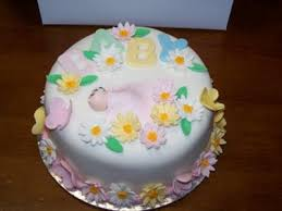 Flower Garden Baby Shower Cakes Butterflies And Ladybugs Too