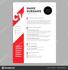 Creative Cv / Resume Template Red Color Background Minimalist Ve ...