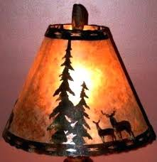 mica shades deer pine trees silver mica lamp shade metal cutout scene white mica chandelier shades