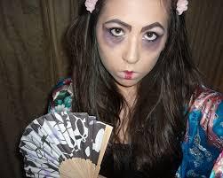 scary geisha hair makeup costume tutorial