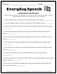 Ideas Collection Context Clues Worksheets Pdf Also Resume
