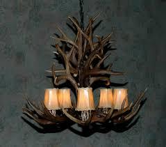 antler custom lighting by cody mule deer chandelier
