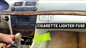 2003 Mb Sl500 Fuse Chart Mercedes W211 Cigarette Lighter Fuse Replacement Location