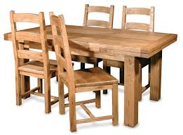 Solid Oak Dining Room Table And 6 Chairs Furniture Set Used Oak Solid Oak Dining Room Table