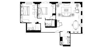 ... Murray Hill One Bedroom Hotel Suite Floor Plan Affinia Shelburne ...