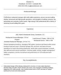 40 Free Restaurant Manager Resume Samples Sample Resumes Inspiration Resturant Manager Resume