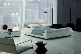 Luxury Modern Leather Bed Upholstered in Italian White 285900