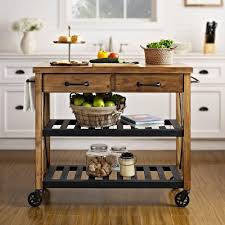 Industrial Kitchen Furniture Crosley Roots Rack Industrial Kitchen Cart In Natural Cf3008 Na