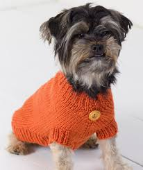 Free Knitted Dog Sweater Patterns Custom Dog Sweater Red Heart