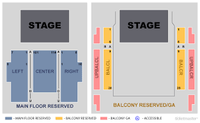 Fillmore Seating Chart True Fillmore Silver Spring Seating Map Fillmore Silver