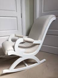 linen fabric white wooden rocking chair chic s london nursing nursery occasional shabby chic