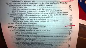 cdl answer sheet dmv test answers youtube