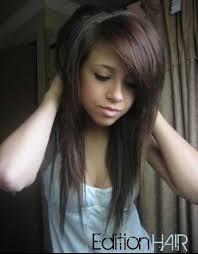 Coiffure Femme Cheveux Long Degrade Avec Frange