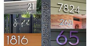 modern mailbox numbers. Fine Numbers Modern House Numbers Throughout Mailbox S