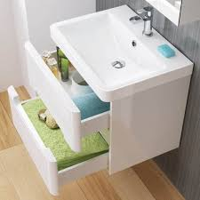 bathroom vanity units basin unit bathempire  mm tuscany gloss white double drawer basin unit wall hung