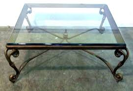 wrought iron glass coffee table wrought iron coffee table iron and glass coffee table best collection