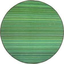 cancun indoor outdoor green 8 ft round area rug