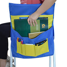 Chair Storage Pocket Chart Eamay Chairback Buddy Pockets Chart Kids School Supplies Chair Pocket Classroom Seat Storage Organizer Blue And Yellow