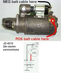 wiring for jd 4010 24 volt diesel starter tractor talk forum it doesn t sound like your replacement starter looks like this but i believe it should so what do you have