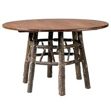 black forest round natural bark hickory dining table