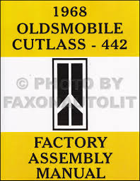1968 olds cutlass 442 f85 wiring diagram manual reprint related items