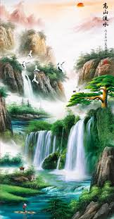 feng shui paintings for office. feng shui lucky landscape paintings for living room office decoration