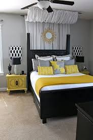 Black Gray And Yellow Bedroom Ideas 2
