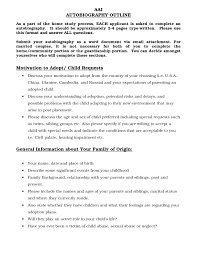 Autobiography Outline Sample 6 Discover China Townsf