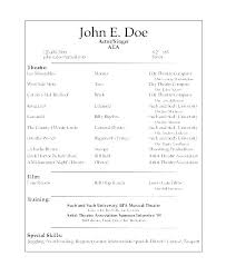 Resume Examples For Actors Actor Resume Example Example Of Actors Resume Example Of Actors