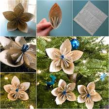 Paper Flower Christmas Tree Wonderful Diy Vintage Dictionary Flower Ornaments