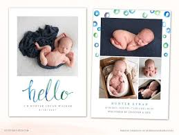 Birth Announcement Template Cb101 ~ Card Templates ~ Creative Market