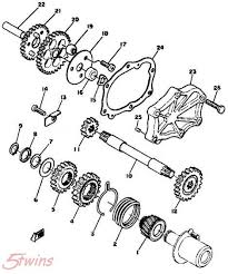 electric starter removal writeup yamaha xs650 forum you can remove parts 15 22 from under the little cover 23 on the left side and parts 1 9 from under the right side engine cover
