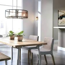 dining room chandeliers height dining table chandelier