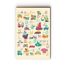 Nish Abc Wall Chart Art Print For Kids 001 Mdf 16in X