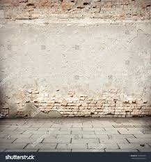 Grunge Background Red Brick Wall Texture Stock Illustration - Plastering exterior walls