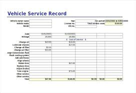 Excel Vehicle Service Record Log Sheet Template Meaning