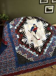 37 best Colorado quilt images on Pinterest | Applique templates ... & Colorado Avalanche california king custom quilt by Sablequilts Adamdwight.com