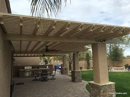Custom Alumawood Patio Cover With Outdoor Fans in Gilbert AZ