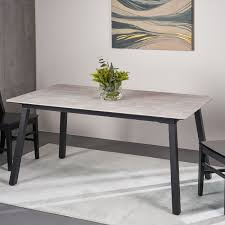 Shop Corcoran Modern Dining Table With Iron Frame And Laminate Table