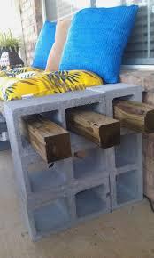 cinderblock furniture. Concrete Block Bench Amazing Cinder Furniture Backyard Avazinternationaldance Cinderblock