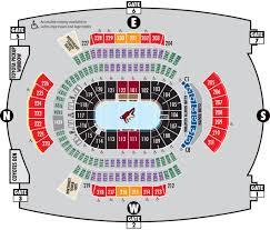 Gila River Arena Seating Map