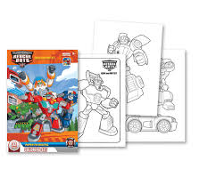 artistic rescue bots coloring pages 18