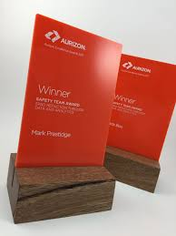 Bespoke Award Design Acrylic Timber Sculptural Award Bespoke Design Trophy